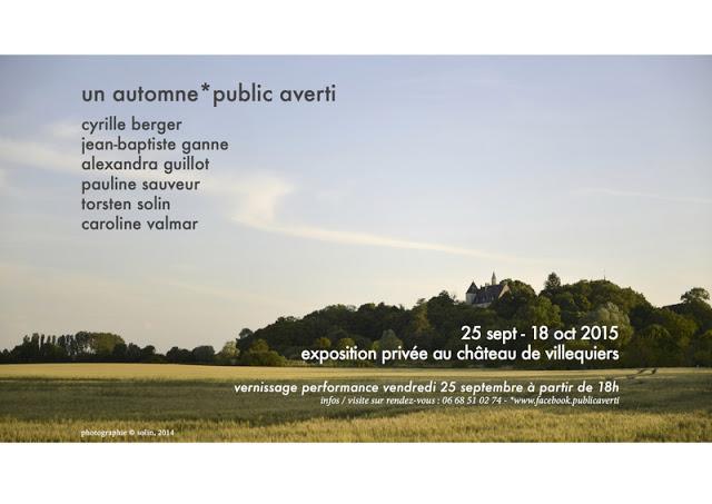 performance exposition public averti un automne