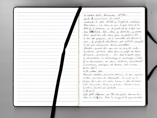 carnet sauveur pauline CRIF PNR et BDP Essonne résidence d'auteure